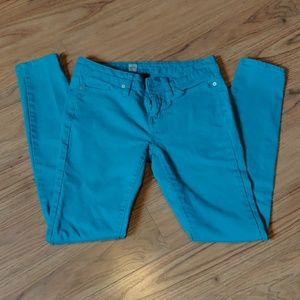 EUC curvy skinny turquoise jeans